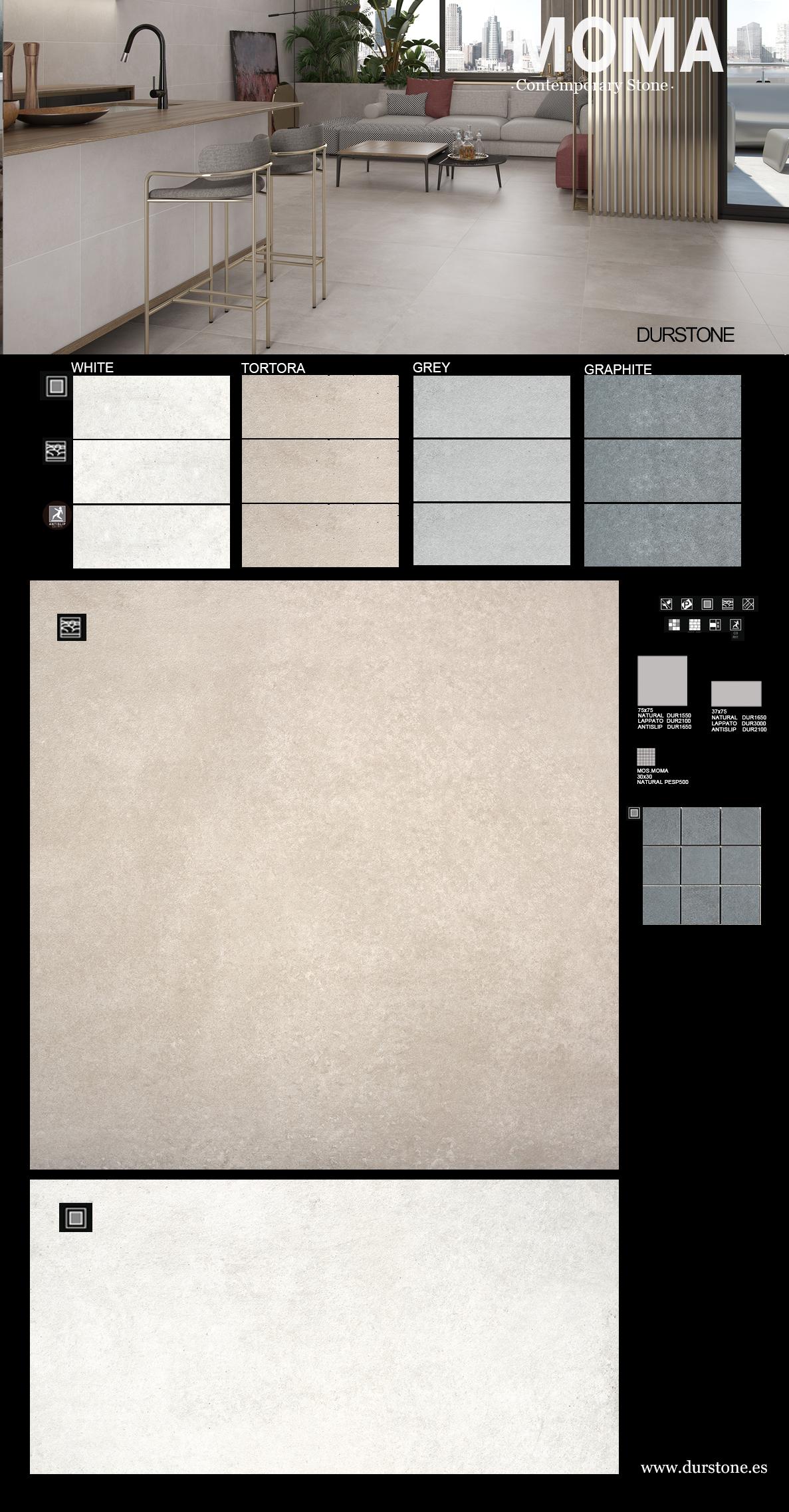 PV PANEL MOMA-1 Cod. 6039 Lap. Mat. / Cod. 6109 Mat. Lap.