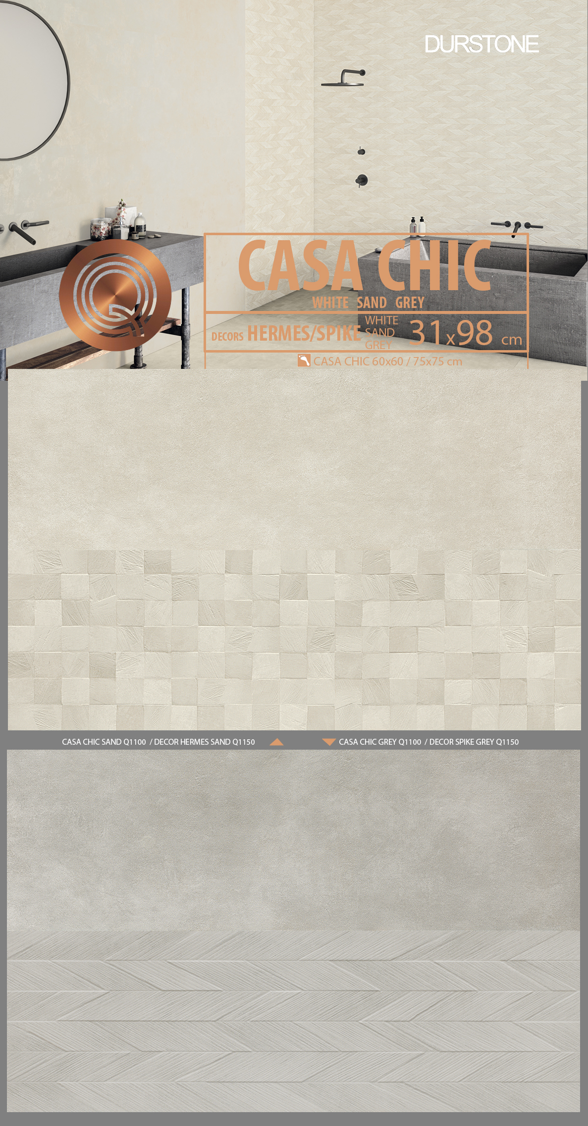 5652 RV PANEL CASA CHIC SAND / GREY Cod. 5652