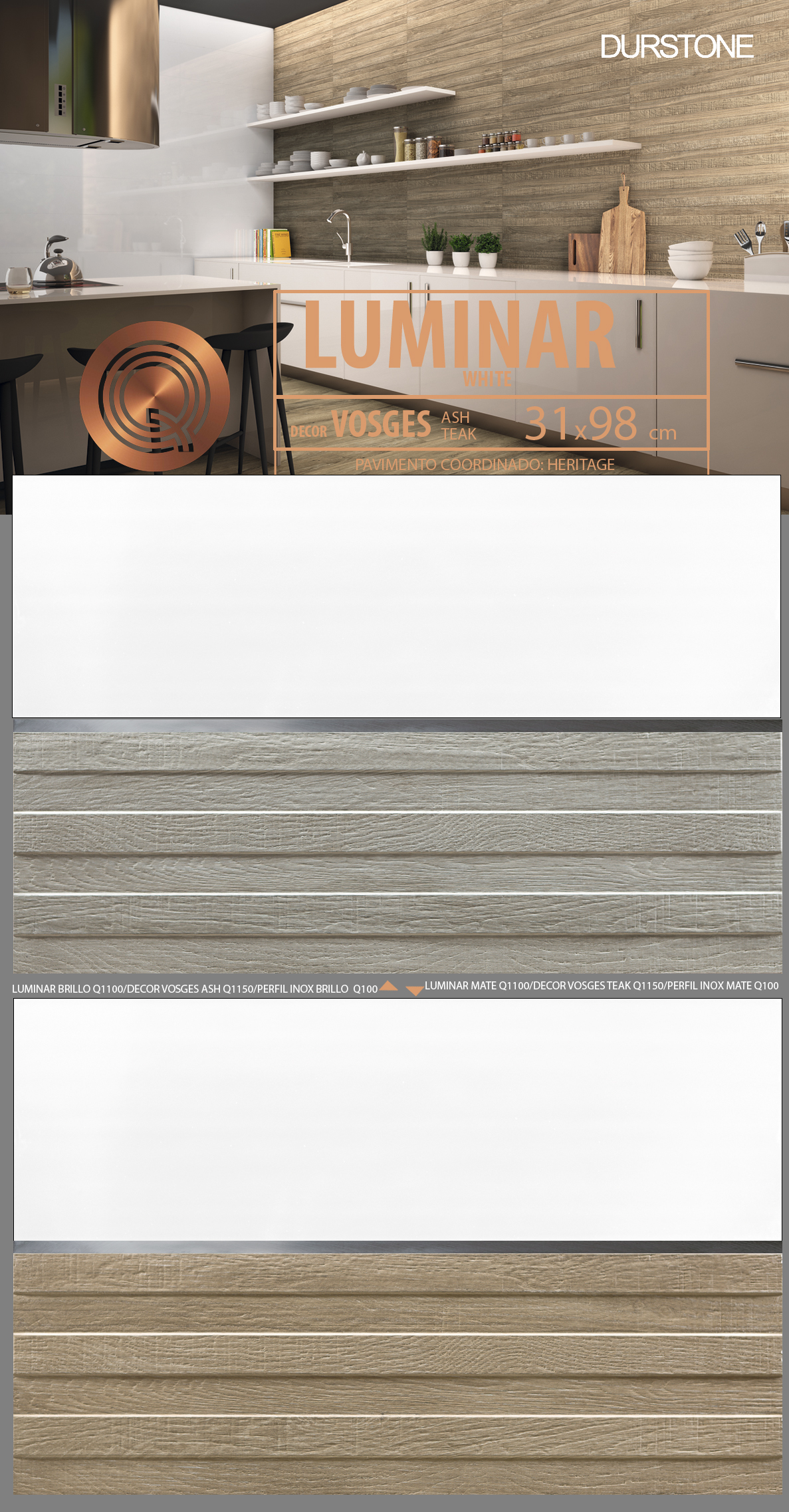 5236 RV PANEL LUMINAR-1 VOSGES Cod. 5236
