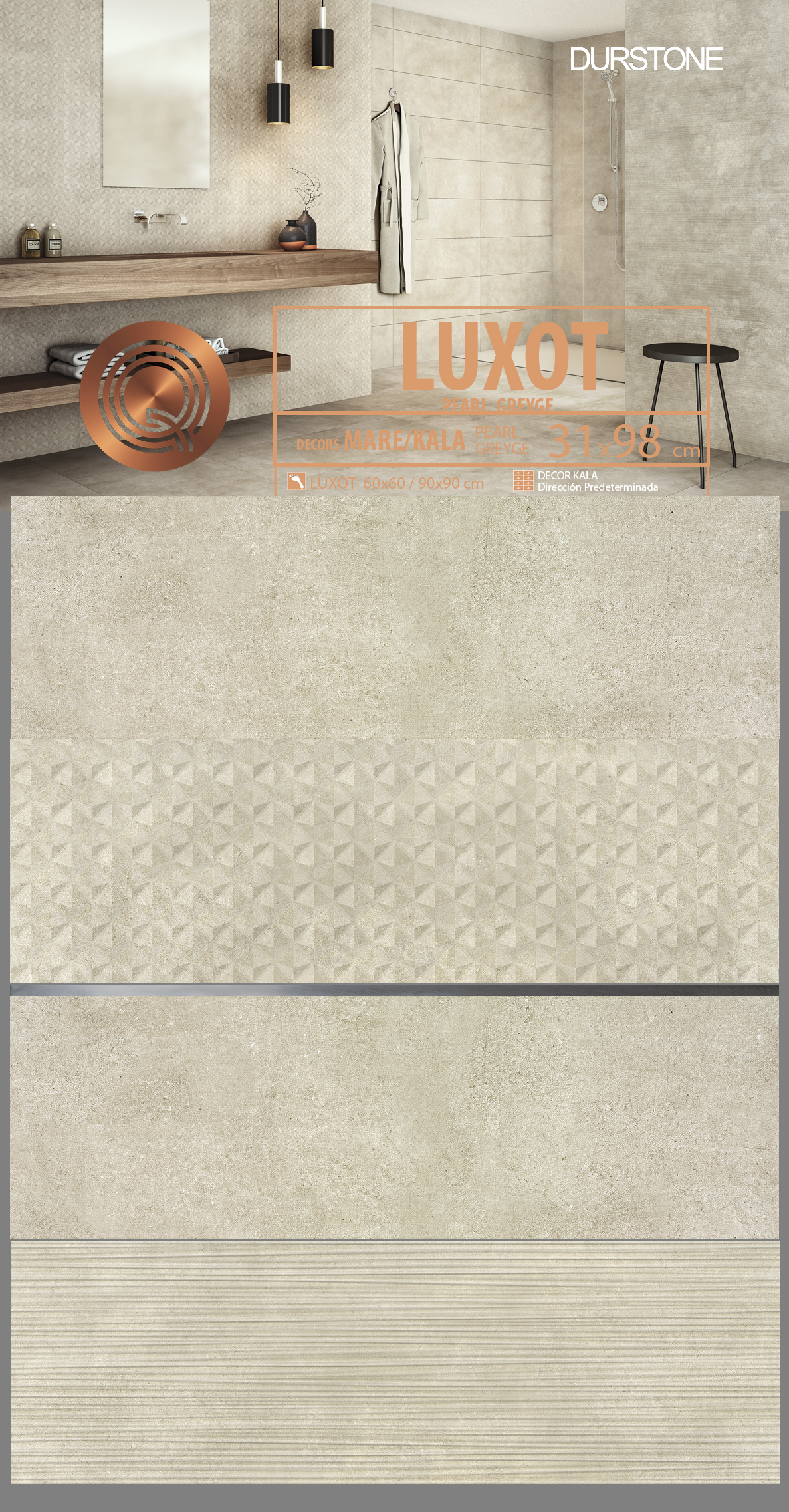5663 RV PANEL MIX LUXOT KALA / MARE GREYGE Cod. 5663