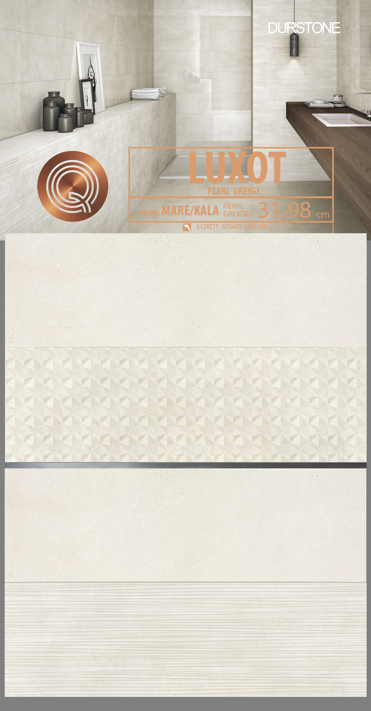 5664 RV PANEL MIX LUXOT KALA / MARE PEARL Cod. 5664