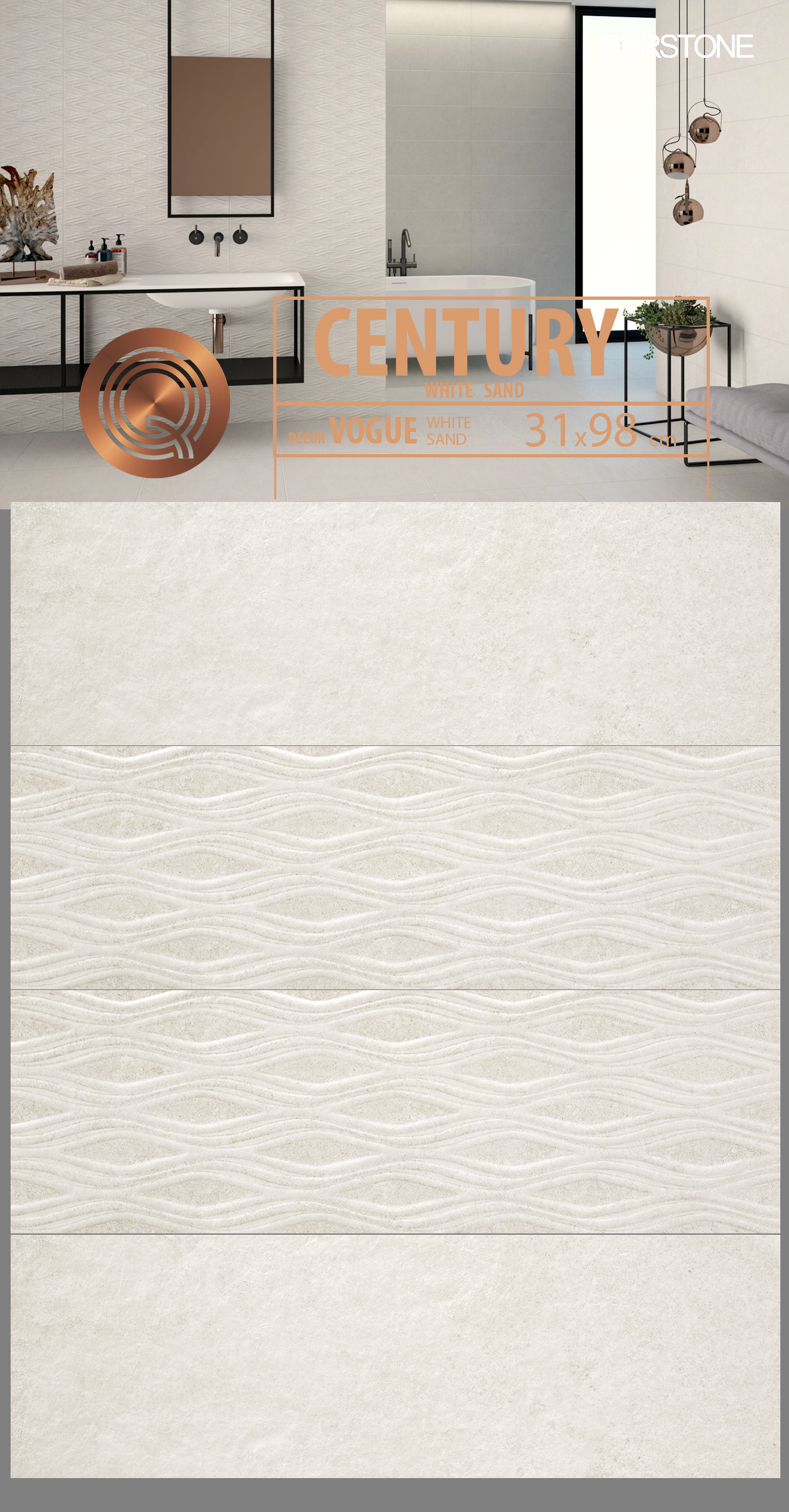 6118 RV PANEL MIX CENTURY / VOGUE WHITE Cod. 6118