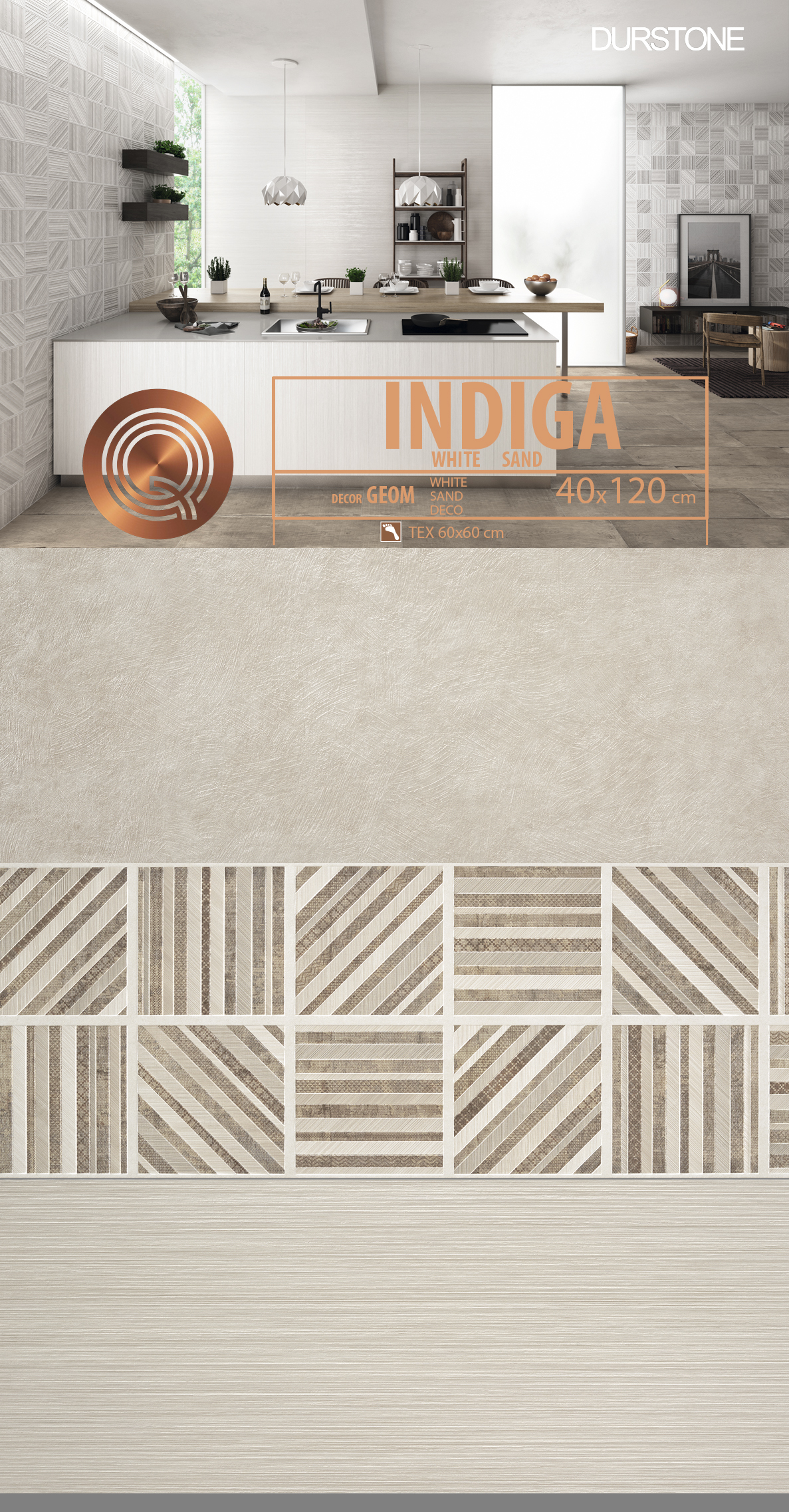 6051 RV PANEL MIX INDIGA / GEOM / DECOR / LINES SAND Cod. 6051