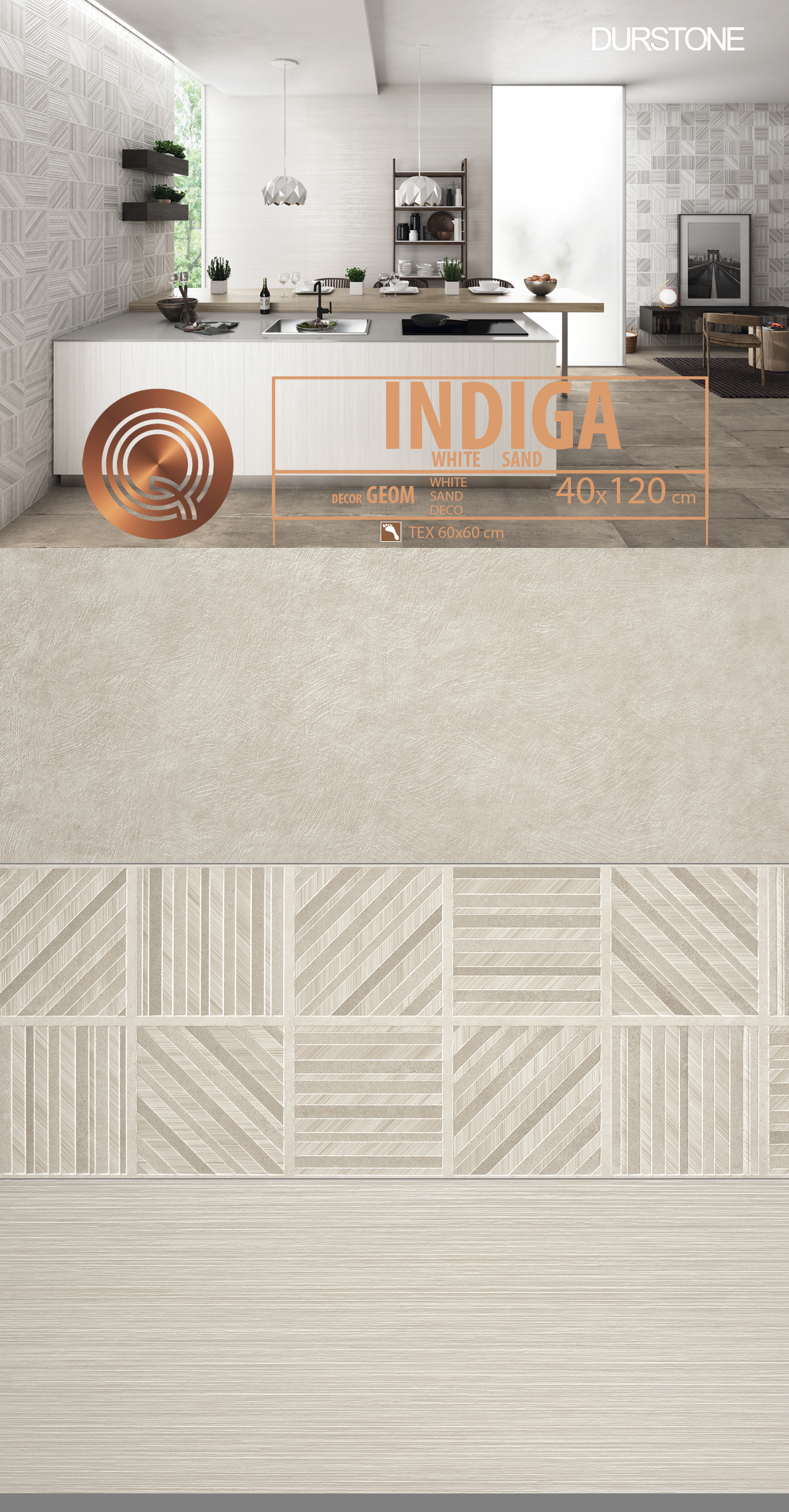 6050 RV PANEL MIX INDIGA / GEOM / LINES SAND Cod. 6050