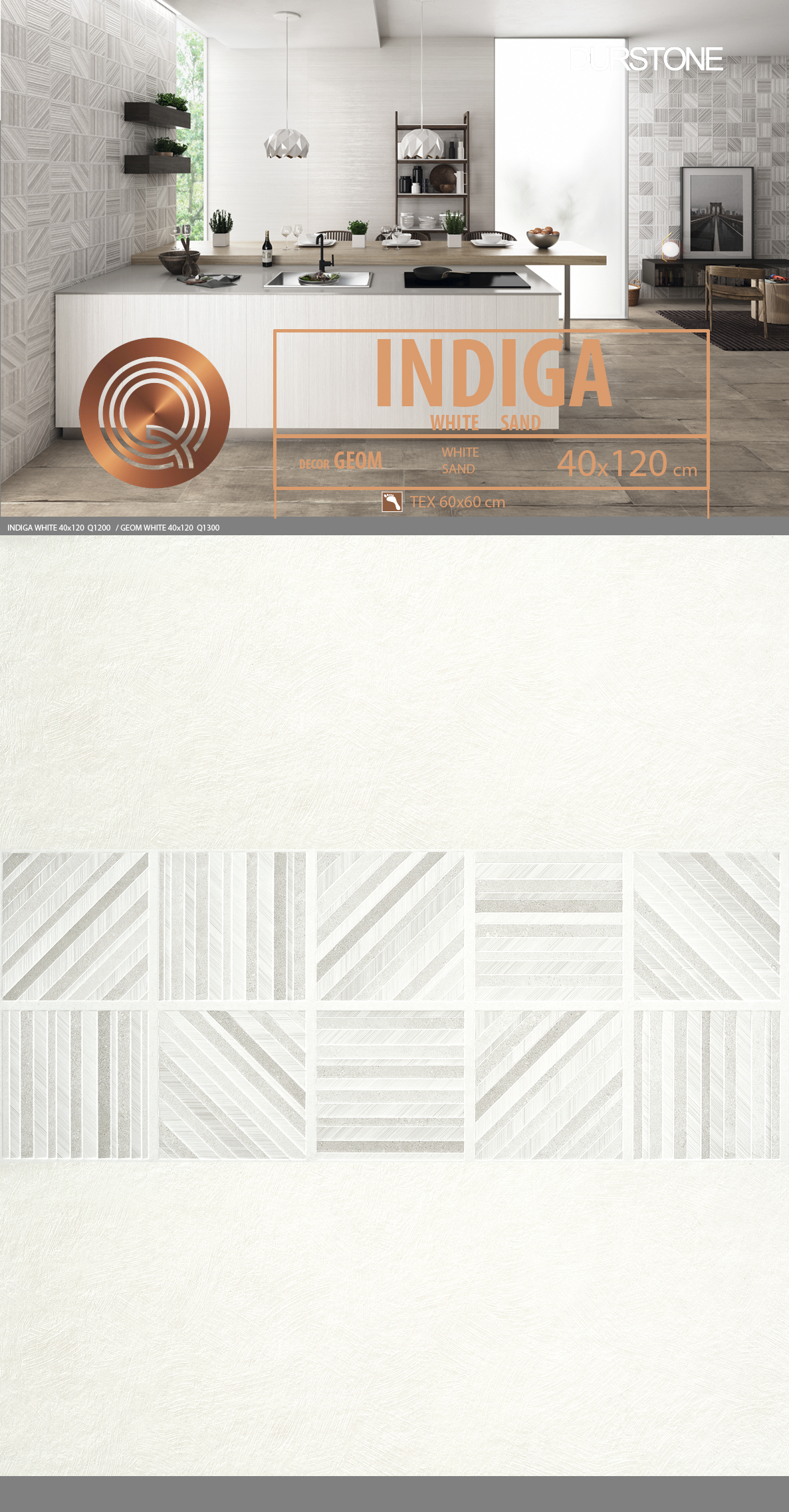 6049 RV PANEL MIX INDIGA / GEOM / LINES WHITE Cod. 6049