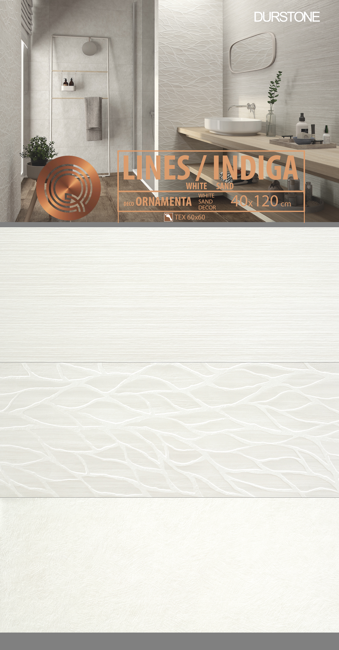 6047 RV PANEL MIX LINES / INDIGA ORNAMENTA WHITE COD. 6047