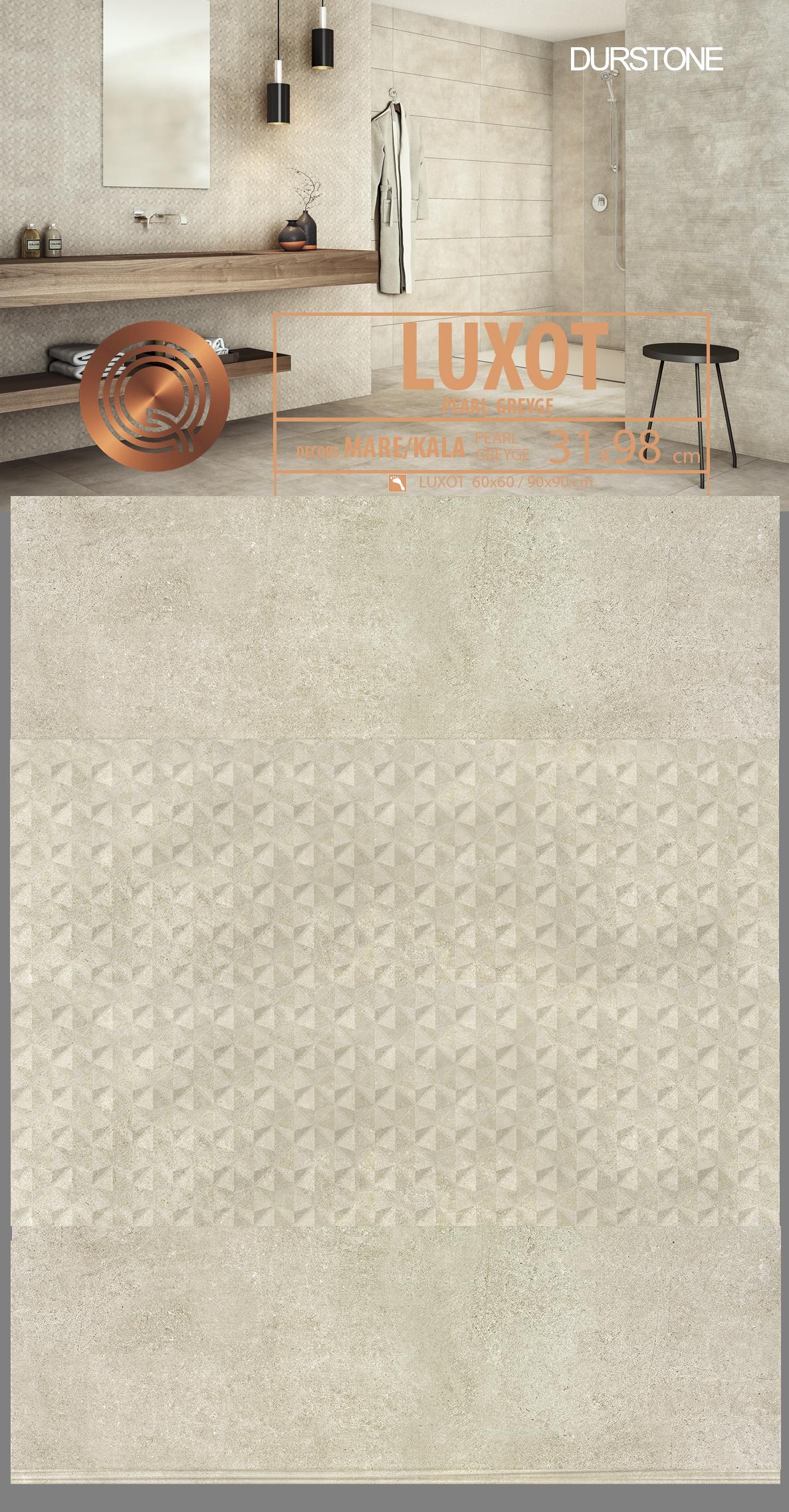 RV PANEL MIX LUXOT KALA Cod. 5665 Greyge / Cod. 5666 Pearl