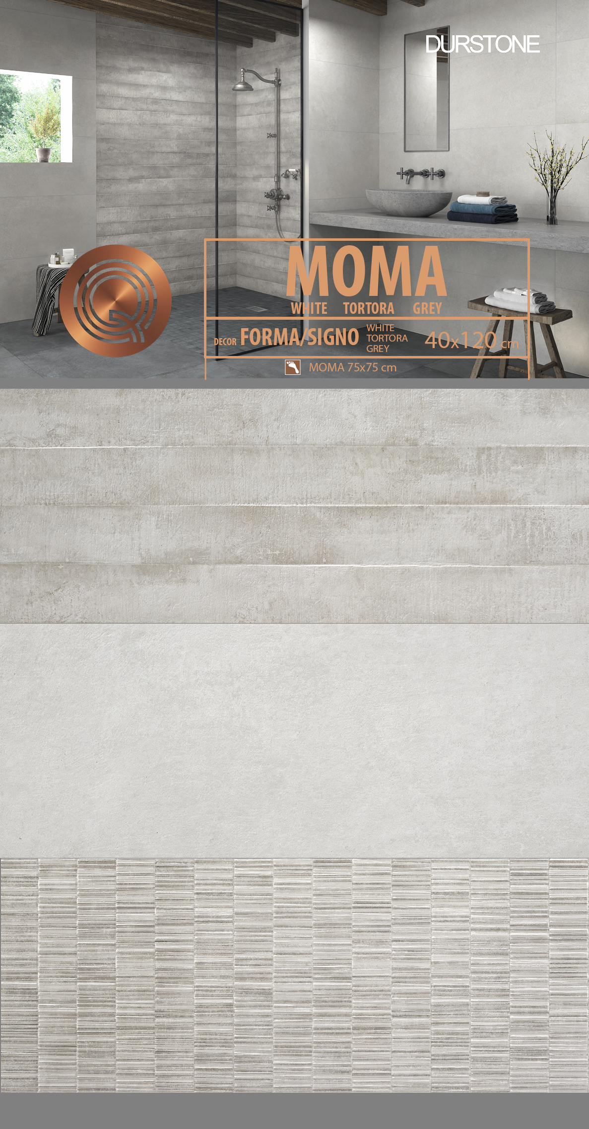 6035 RV PANEL MIX MOMA / FORMA / SIGNO GREY Cod. 6035