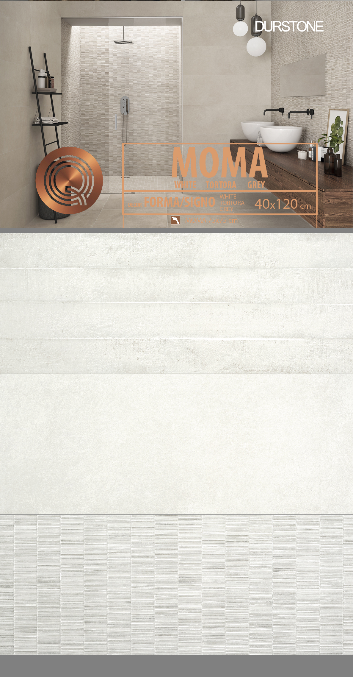 6033 RV PANEL MIX MOMA / FORMA / SIGNO WHITE Cod. 6033