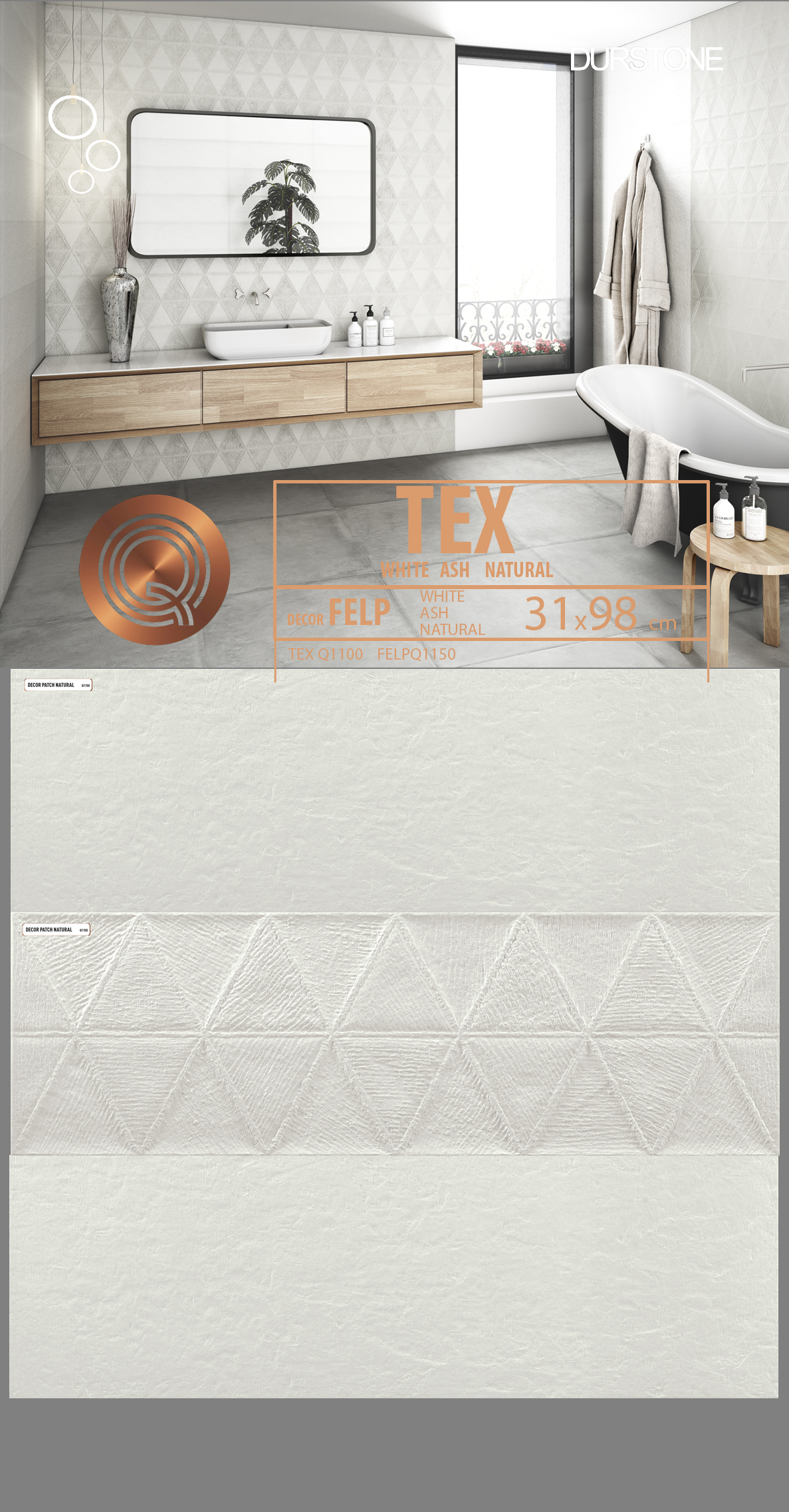 5269 RVM PANEL MIX TEX FELP WHITE Cod. 5269