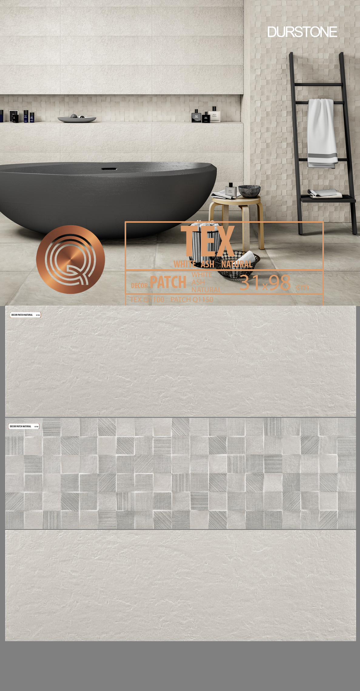 5272 RVM PANEL MIX TEX PATCH ASH Cod. 5272