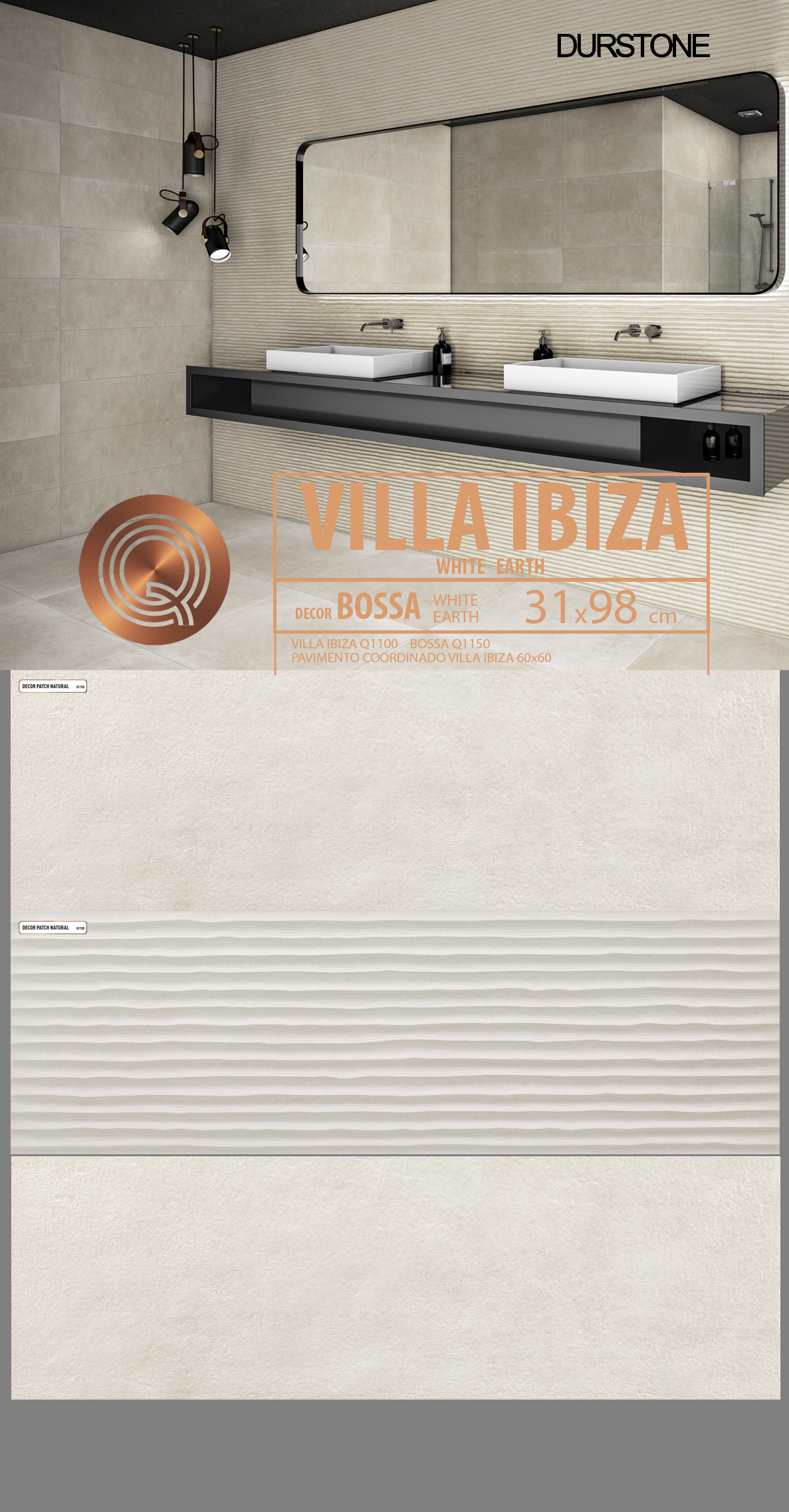 5287 RVM PANEL MIX VILLA IBIZA BOSSA WHITE Cod. 5287